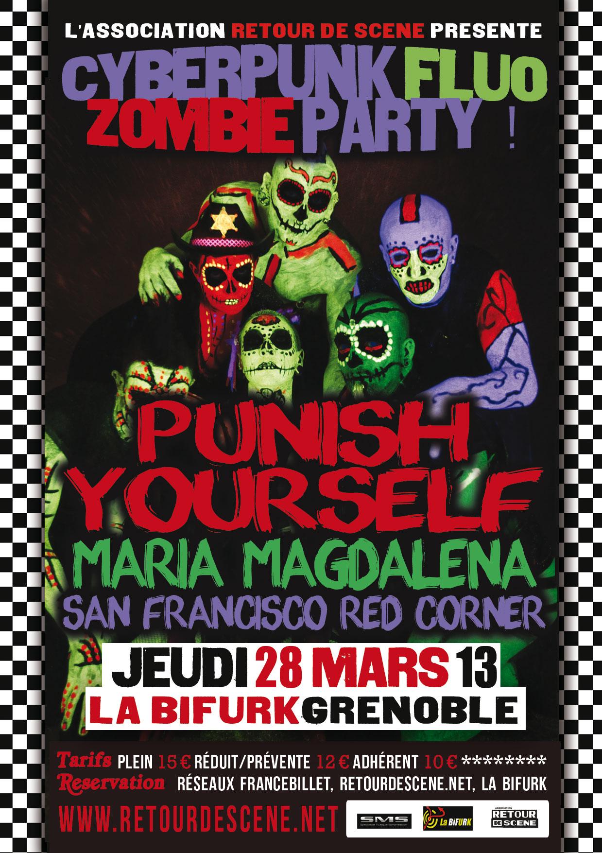 Cyberpunk Fluo Zombie Party - La Bifurk - 28/03/2013