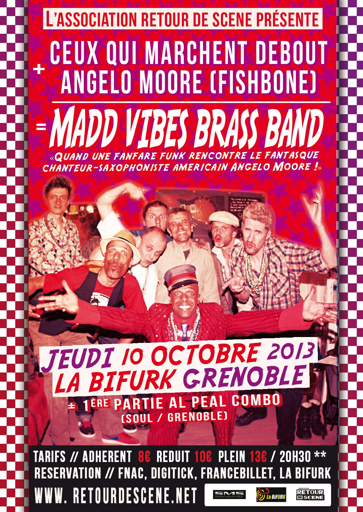 Madd Vibes Brass Band - La Bifurk - 10/10/2013