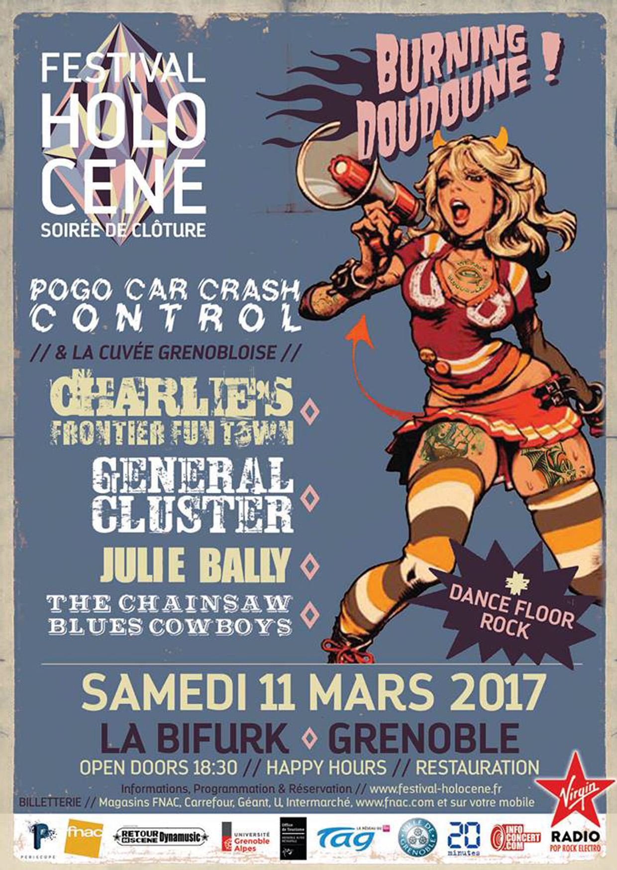 2017.03.11 - Soirée Burning Doudoune / Clôture Holocène